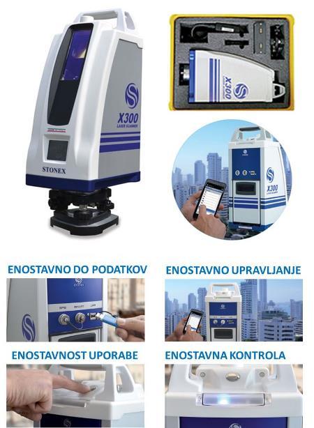 3D laserski skener X300